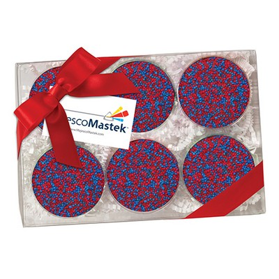 Elegant Chocolate Covered Oreos® Gift Box - Nonpareil Sprinkles (6 pack)