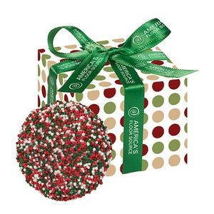 Chocolate Covered Oreo� Favor Box - Holiday Nonpareil Sprinkles